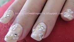 Flowery Wedding Nails