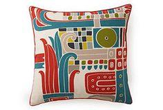 Kaleidoscope 20x20 Pillow, Red