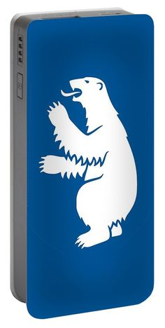 Greenland Portable Battery Charger featuring the mixed media Greenland Coat Of Arms by Otis Porritt