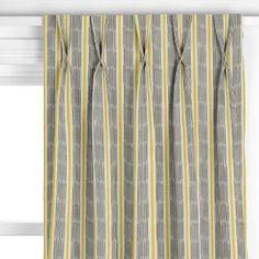 Buy John Lewis Woven Ikat Stripe Curtain, Saffron   John Lewis