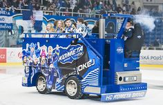 HC Kometa Brno giving the kids a Zamboni ride