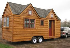 This model from Seattle Tiny Homes has replaced one of the tumbleweed designs as my favorite. I want it. Right now.