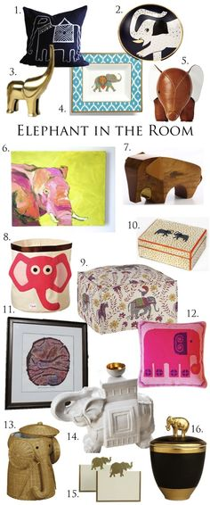 the elephant in the room, elephant decor