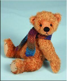 "'Patootie' by Paula Carter 8"" mohair teddy bear #teddybears #teddy #bears #bear #artistbears #paulacarter  www.allbear.co.uk Bearing All"