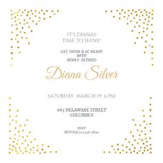 Side By Side Gold Printable Invitation Template Customize Add