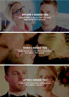Kiss me like your falling in love #Olicity #Arrow