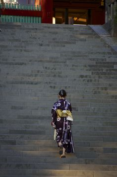 A Lady wearing a Kimono