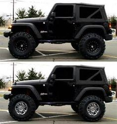 I LIKE THE CHROME BUT THEY BOTH LOOK GREAT!  2007 lifted jeep wrangler #Jeep #Wheels