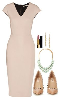 A fashion look from March 2016 featuring Victoria Beckham dresses, Valentino pumps and Forever 21 necklaces. Browse and shop related looks. Business Outfits, Business Fashion, Classy Outfits, Cute Outfits, Outfit Elegantes, Jessica Pearson, Lawyer Fashion, Dress Outfits, Fashion Outfits
