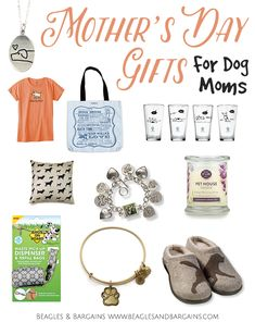 10 Mother's Day Gifts for Dog Moms   http://www.beaglesandbargains.com/10-mothers-day-gifts-for-dog-moms/