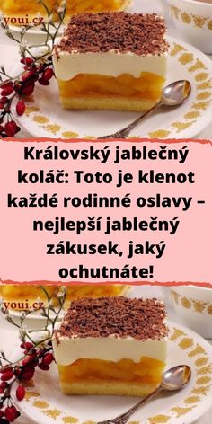 Czech Desserts, Quick Recipes, Cheesecake, Good Food, Food And Drink, Dessert Recipes, Pudding, Sweets, Baking