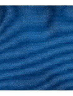 Men's Plain Royal Blue Ottoman 100% Silk Tie