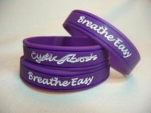 Cystic Fibrosis awareness wristbands.