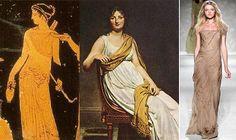 """Un'immagine di Artemide, Jacques-Louis David """"Madame de Verninac"""", 1799 e un abito di Alberta Ferretti estate 2011"""