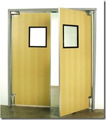 Restaurant Kitchen Swing Doors standard from rubbair - the worldwide impact traffic door company