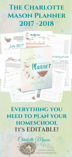 Plan your Charlotte Mason homeschool with this EDITABLE homeschool planner that is perfect for your method of education.