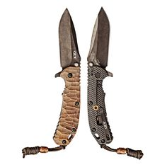 EDC Knife Zero Tolerance 560 BW with custom stone pattern copper scale, bead and LBS - Everyday Carry Gear Zt Knives, Cool Knives, Tactical Knives, Buck Knives, Tactical Gear, Types Of Knives, Knives And Tools, Knives And Swords, Everyday Carry Gear