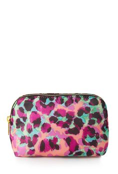 Spotted Small Cosmetic Bag   FOREVER21 Never spotted without #F21Cosmetics #Makeup