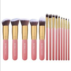 Soft Silky brushes 5 Pieces Basic Big Kabuki Makeup Brushes and 9 Pieces precise eye makeup brushes SOFT and SILKY to the touch, the brushes are dense and shaped well. BS-MALL(TM) Premium Synthetic Kabuki Makeup Brush Set-Amazing Quality & Great Price Other