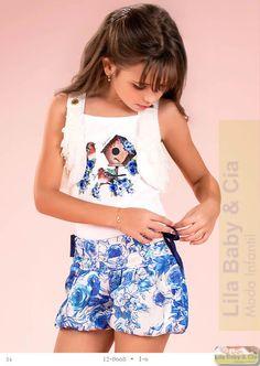 Conjunto Blusa e Shorts Balone Diforini - Lila Baby e Cia Moda Infantil