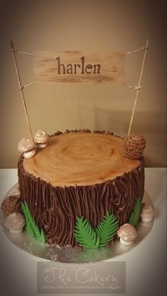 Wilderness Tree Stump on Cake Central More