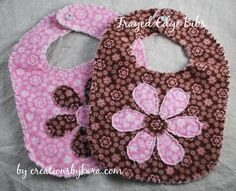 Rag Quilt Baby Bib Tutorial from creationsbykara.com. These make great baby shower gifts! #babybib #tutorial