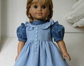American Girl doll -  prairie dress and pinafore with pantaloons