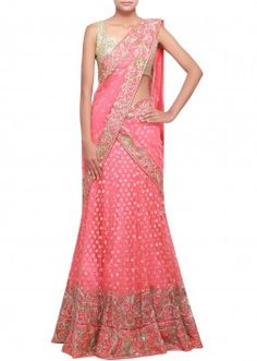Rouge  red lehenga embellished in sequence embroidery only on Kalki