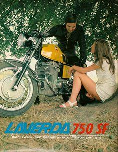 Pubblicità anni 70 Laverda 750 SF