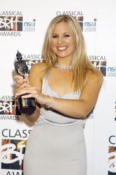 Alison Balsom poses with her Female Artist of the Year Award duringthe press room of 'the Classical Brit Awards' at Royal Albert Hall on May 14 2009...