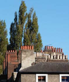 Chimneyscape in Well Walk, Hampstead