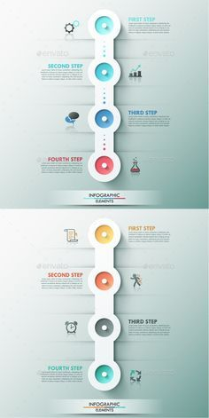 Buy Modern Infographic Process Template Colors) by Andrew_Kras on GraphicRiver. Modern infographic option banner with round paper shape made of circles, icons and textures for 4 steps on grey backg. Process Infographic, Timeline Infographic, Infographic Templates, Resume Templates, Flyer Template, Photoshop Design, Color Photoshop, Photoshop Actions, Web Design