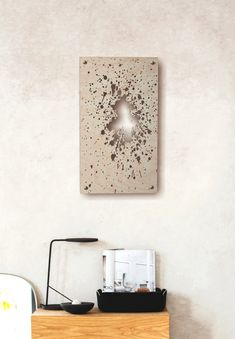 edges scorched by Dark Walls, Chrome Finish, Floating Nightstand, Compliments, Frame, Artwork, Color, Design