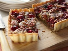 Pecan Cranberry Tart More