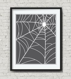 Dress your walls for Halloween. Four Halloween spider web art prints by ImaginationBoxStore