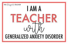 I am a teacher with Generalized Anxiety Disorder. I was sitting in AP Psychology class, going over the DSM-V checklist for Generalize. Special Education Teacher, Teacher Blogs, My Teacher, Gad Disorder, Disorders, Generalized Anxiety Disorder, Social Anxiety Disorder, Ap Psychology, Sensory Issues