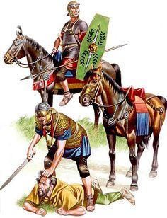 ROMAN: Cavalry trooper, Ala Noricum, second half 1st C. AD; Cavalry trooper, Ala Noricum, mid-1st C. AD