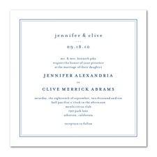 Pure Style Blue Wedding Invitations