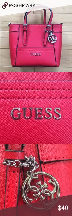 Small Guess purse Small red purse. Never been used and comes with a long strap. Bags Mini Bags
