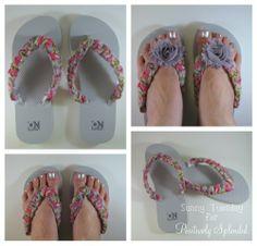 No-Sew Embellished Flip Flops | Positively Splendid {Crafts, Sewing, Recipes and Home Decor}