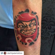 #Repost @darthjadertattoo with @repostapp  I  Darumas! #tattoo #daruma…