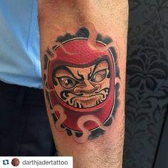 #Repost @darthjadertattoo with @repostapp I Darumas! #tattoo #daruma…