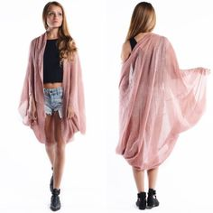 """""""Cinderella"""" Cocoon Kimono Cardigan Scarf Kimono cardigan scarf. Available in blue and pink. This listing is for the PINK. Brand new. One size fits most. Bare Anthology Jackets & Coats"""