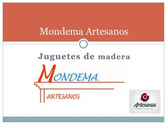 Catalogo infantil Mondema Artesanos  Juguetes de madera y mobiliario infantill