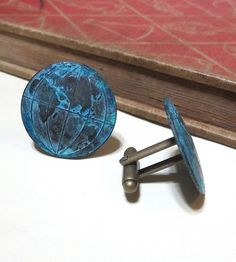 Verdigris Patina Globe Cufflinks by nitelily glamour on Scoutmob Shoppe
