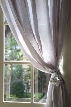 BALLERINAパールグレーカーテン ~サラグレース~ Sheer Curtains, Window Curtains, Peaceful Places, New Room, Stores, Renting A House, Cottage Style, Window Treatments, Home Accessories