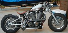 Victory bobber. (Yes, please!!)    Greg Brew's, head of Industrial design at Victory Motorcycles, own personal project bobber which is built around a Victory 92c
