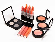 MAC All About Orange Collection Swatches