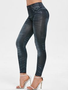 fedda773 Faded Wash Print High Waist Pants Trendy pants Use code; RGIWD with 25%  discount
