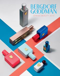 pring Beauty 2015 : Art Direction and publication design for Bergdorf Goodman. Phography by Jens Mortensen Cosmetic Shop, Cosmetic Design, Cosmetic Packaging, Beauty Ad, Beauty Shoot, Parfum Giorgio Armani, Beauty And The Best, Web Design, Media Design